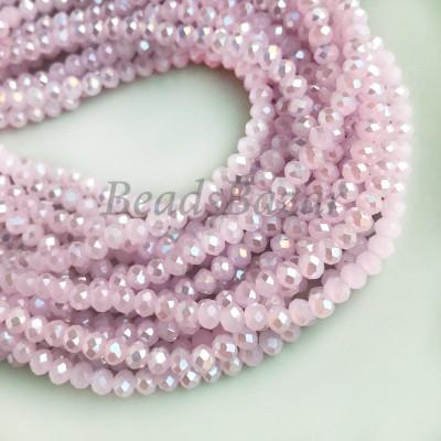 Cтеклянные бусины, розовый
