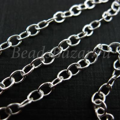 Цепочка 2,5*3,5 мм серебро 925 пр.