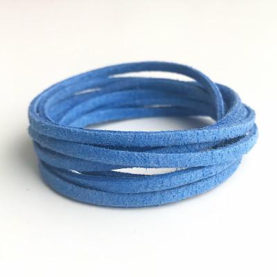 Шнур замшевый синий