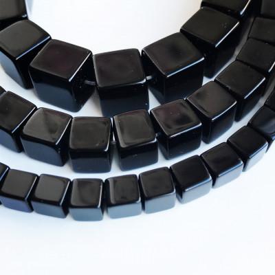 Агат черный кубик