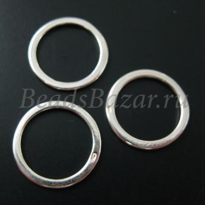 Колечки замкнутые 14 мм серебро 925 пробы