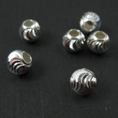 Бусина витая серебро 925 пр. 4-8 мм