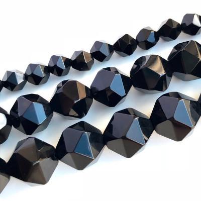 Агат черный многогранник