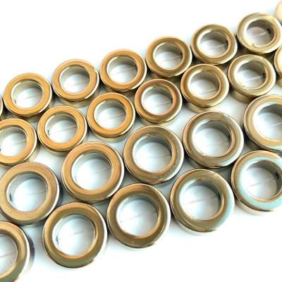 Гематит рамка круглая золото