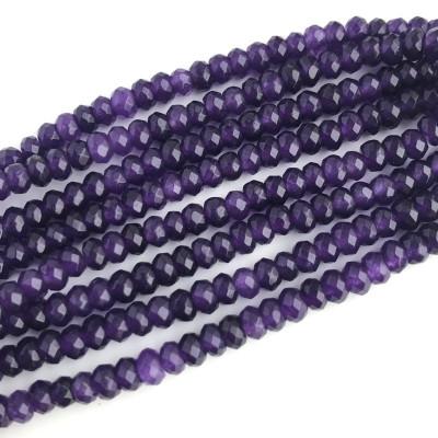 Агат рондель граненый фиолетовый
