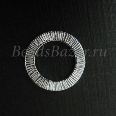Коннектор кольцо 14 мм серебро 925 пр.