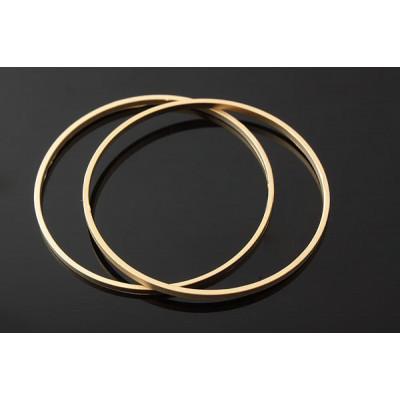 Коннектор кольцо 30 мм, матовая позолота