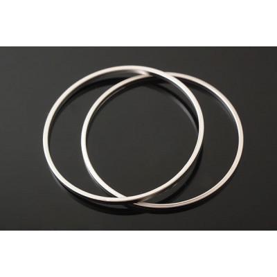 Коннектор кольцо 30 мм, матовое родиевое покрытие