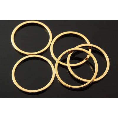 Коннектор кольцо 15 мм, глянцевая позолота