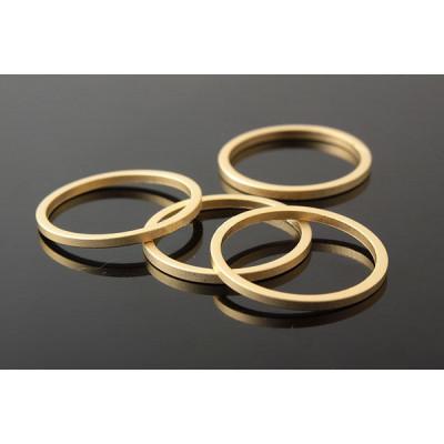 Коннектор кольцо 16 мм, матовая позолота