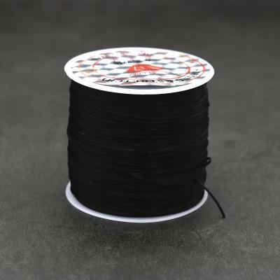 Резинка для браслетов черная
