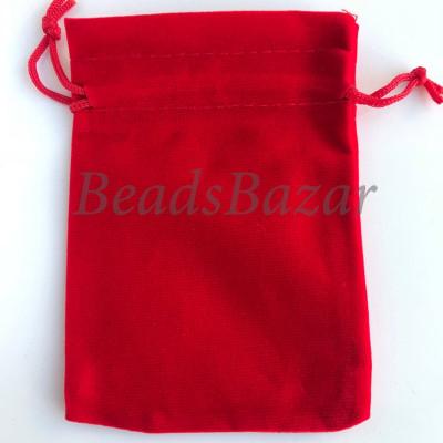 Мешочек подарочный бархат красный