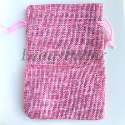 Мешочек подарочный ткань розовый
