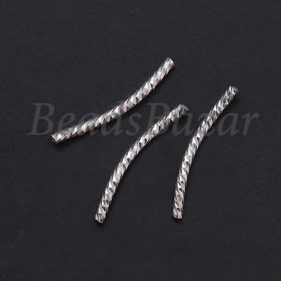 Бусина серебро 925 пр. трубочка рифленая