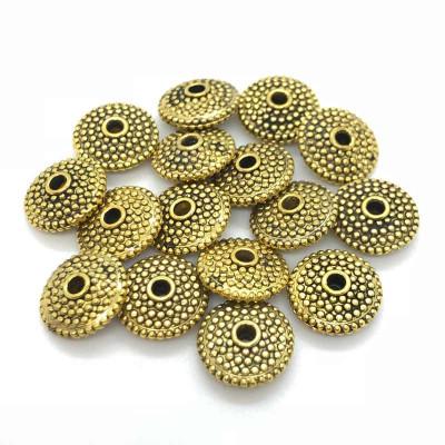 Бусины спейсеры диск золото
