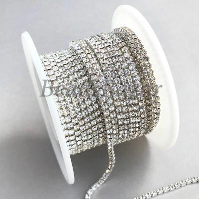Стразовая цепь 2 мм (белый)