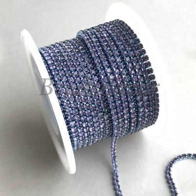 Стразовая цепь 2 мм (танзанит)