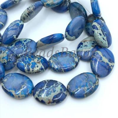 Варисцит синий овал