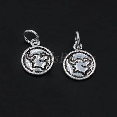 Подвеска монетка слоник серебро 925 пр.