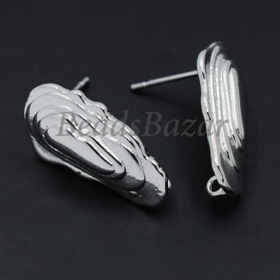 Швензы пуссеты 11*20 мм, серебро