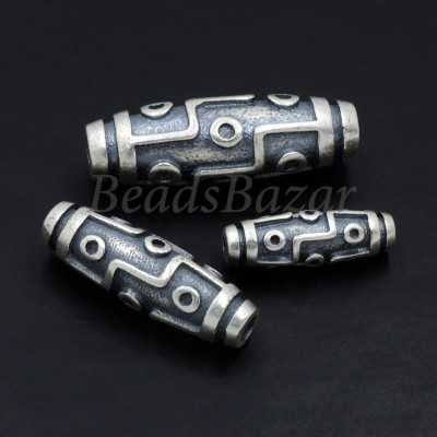 Бусина Дзи серебро 925 пр.