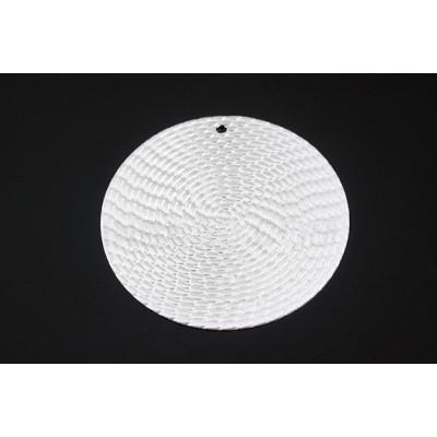 Подвеска круг 30 мм матовое родиевое покрытие