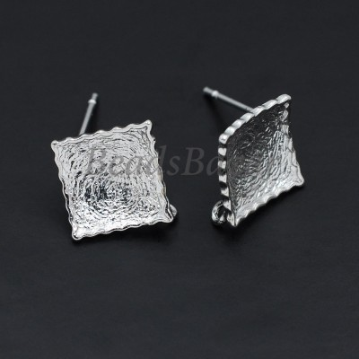 Швензы пуссеты 13*13 мм, серебро