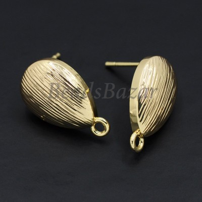 Швензы пуссеты 11*15 мм, золото