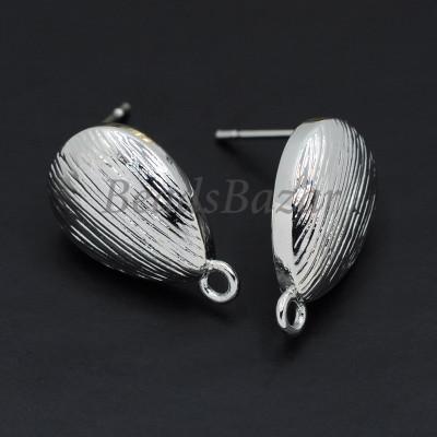 Швензы пуссеты 11*15 мм, серебро