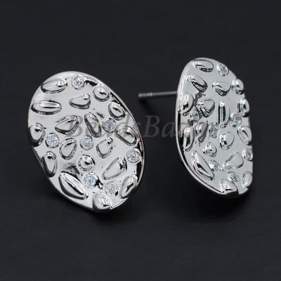 Швензы пуссеты 13*17 мм, серебро
