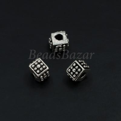 Бусина кубик 5 мм серебро 925 пр.