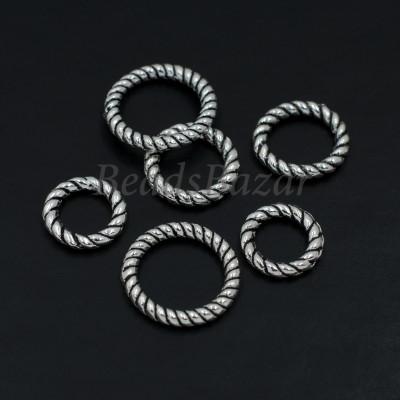 Колечки витые серебро 925 пр.