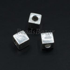Бусина серебро 925 пр. кубик 5 мм