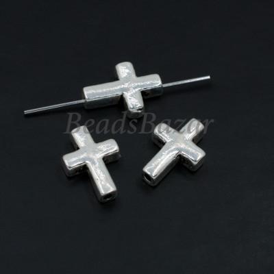 Бусина серебро 925 пр. крестик