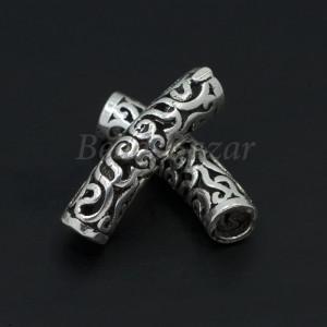 Бусина серебро 925 пр. трубочка