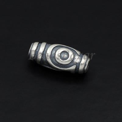 Бусина Дзи серебро 925 пр. 2 глаза