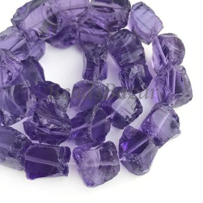 Кварц необработанный (тонированный) фиолетовый