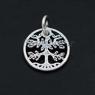 Подвеска дерево серебро 925 пр.
