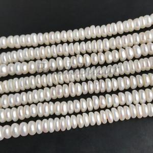 Жемчуг натуральный речной рондели 4 мм